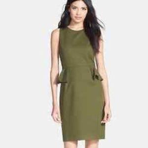 KATE SPADE Green Havana Peplum Dress